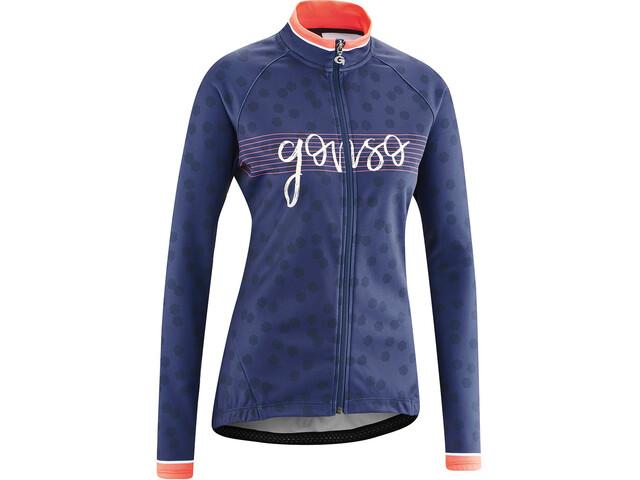 Gonso Julienne Longsleeve Jersey Doorlopende Rits Dames, medieval blue